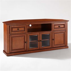 Crosley Furniture 60 Corner TV Stand in Classic Cherry