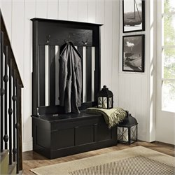 Crosley Ogden Entryway Hall Tree in Black