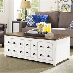 Crosley Bancroft Two Tone Coffee Table in White