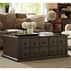 Crosley Morgan Lift Top Coffee Table in Rich Mocca