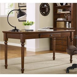 Crosley Valley Home Office Desk Desk in Vintage Cherry