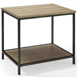Crosley Brooke End Table in Washed Oak