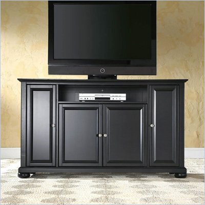 Crosley Furniture Alexandria 60&quot; TV Stand in Black Finish