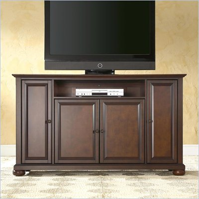 Crosley Furniture Alexandria 60&quot; TV Stand in Vintage Mahogany Finish