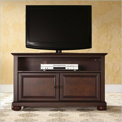 "Crosley Furniture Alexandria 42"" TV Stand in Vintage Mahogany Finish"