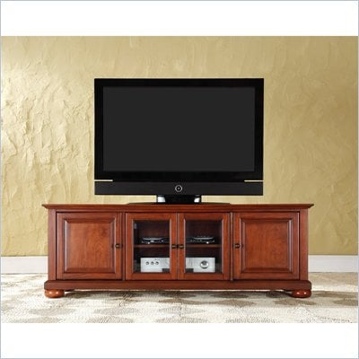 "Crosley Furniture Alexandria 60"" Low Profile TV Stand in Classic Cherry"