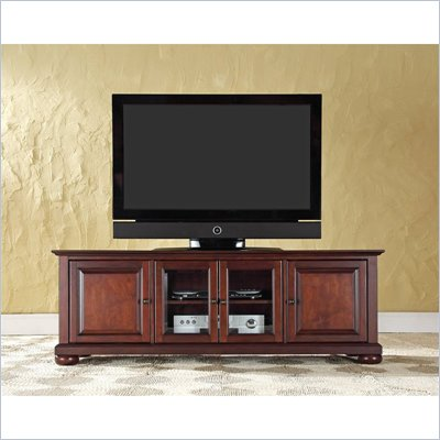 "Crosley Furniture Alexandria 60"" Low Profile TV Stand in Vintage Mahogany"