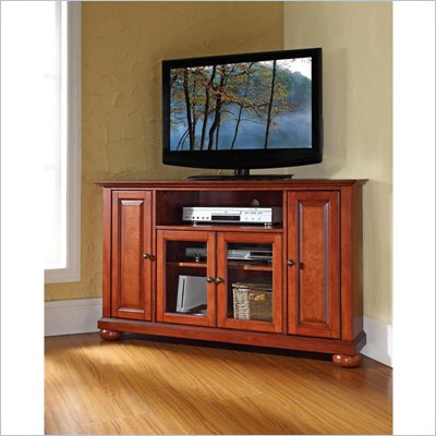Crosley Furniture Alexandria 48&quot; Corner TV Stand in Classic Cherry