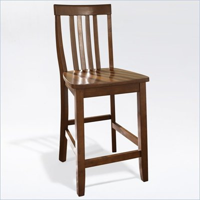 Crosley Furniture Counter Height School House Bar Stool in Classic Cherry Finish