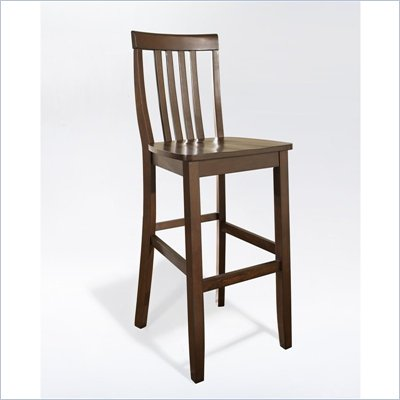 Crosley Furniture Bar Height School House Bar Stool in Mahogany Finish