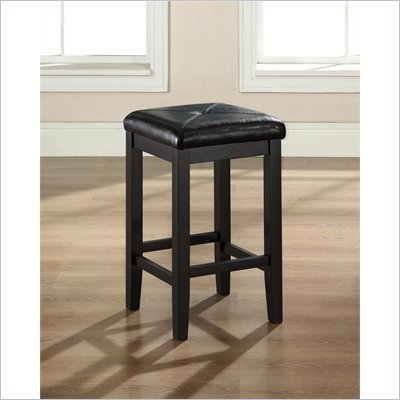 Crosley Furniture 24&quot; Upholstered Square Bar Stool in Black