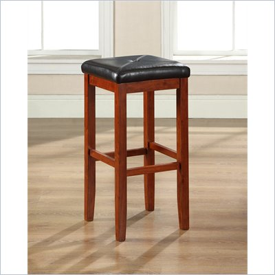 Crosley Furniture 29&quot; Upholstered Square Bar Stool in Vintage Mahogany