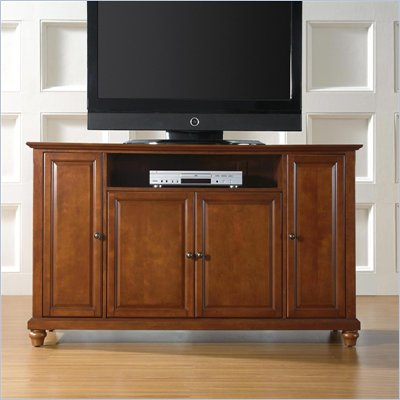 "Crosley Furniture Cambridge 60"" TV Stand in Classic Cherry Finish"