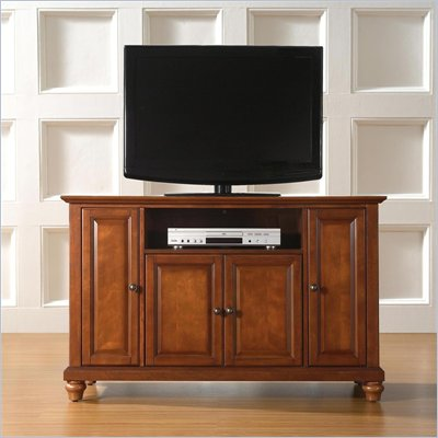 "Crosley Furniture Cambridge 48"" TV Stand in Classic Cherry Finish"