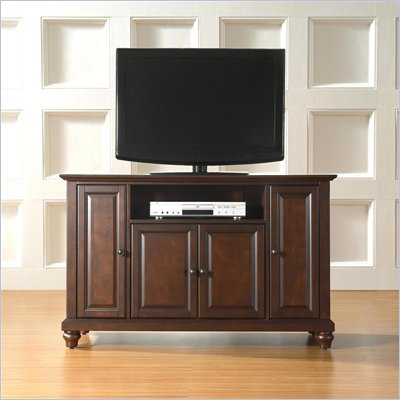 "Crosley Furniture Cambridge 48"" TV Stand in Vintage Mahogany Finish"