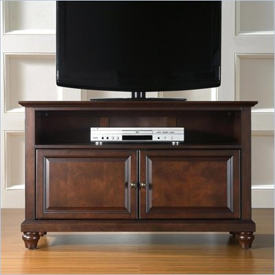 "Crosley Furniture Cambridge 42"" TV Stand in Vintage Mahogany Finish"