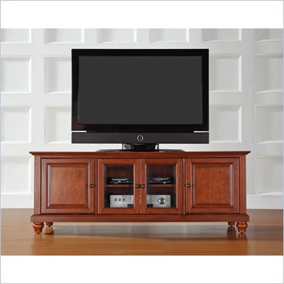 "Crosley Furniture Cambridge 60"" Low Profile TV Stand in Classic Cherry"