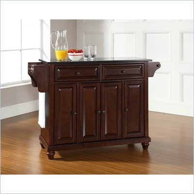 Crosley Furniture Cambridge Black Granite Top Mahogany Kitchen Cart