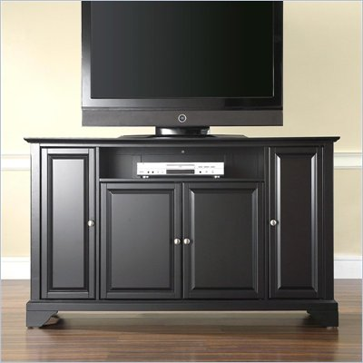 Crosley Furniture LaFayette 60&quot; TV Stand in Black Finish