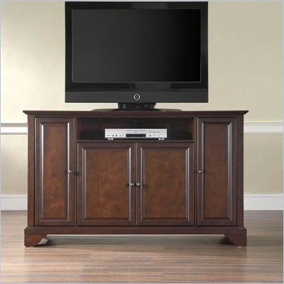 "Crosley Furniture LaFayette 60"" TV Stand in Vintage Mahogany Finish"