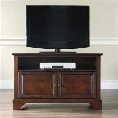 "Crosley Furniture LaFayette 42"" TV Stand in Vintage Mahogany Finish"
