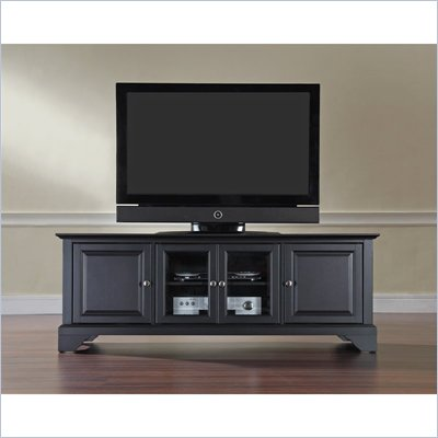 Crosley Furniture LaFayette 60&quot; Low Profile TV Stand in Black Finish