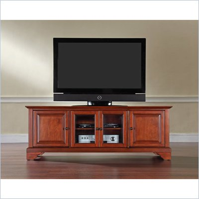Crosley Furniture LaFayette 60&quot; Low Profile TV Stand in Classic Cherry