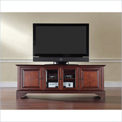 "Crosley Furniture LaFayette 60"" Low Profile TV Stand in Vintage Mahogany"