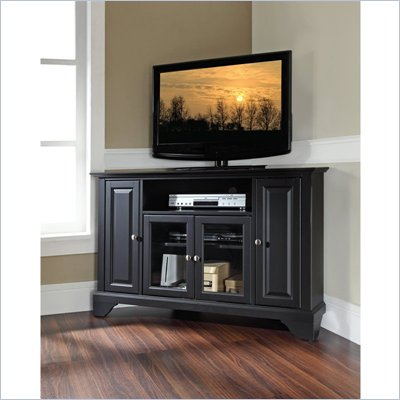 Crosley Furniture LaFayette 48&quot; Corner TV Stand in Black Finish