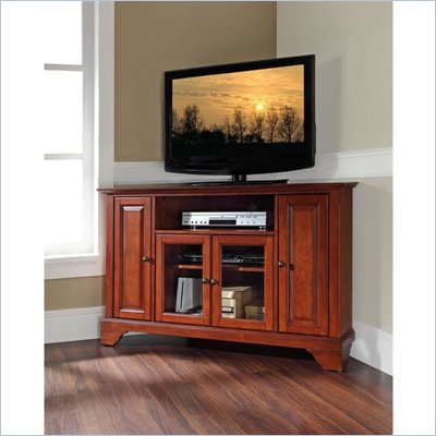 Crosley Furniture LaFayette 48&quot; Corner TV Stand in Classic Cherry