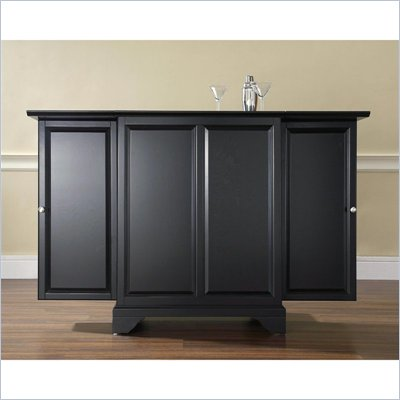 Crosley Furniture LaFayette Expandable Bar Cabinet in Black Finish