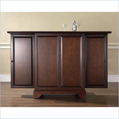 Crosley Furniture LaFayette Expandable Bar Cabinet in Vintage Mahogany Finish