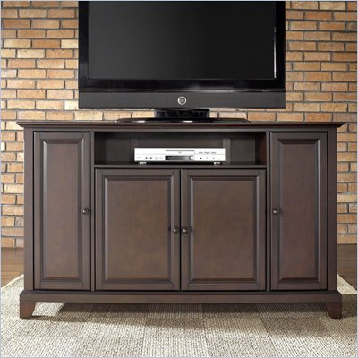 Crosley Furniture Newport 60&quot; TV Stand in Vintage Mahogany Finish