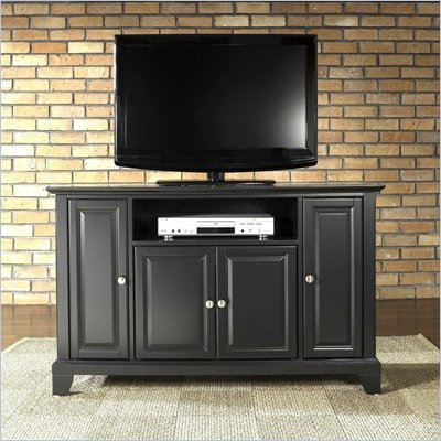 "Crosley Furniture Newport 48"" TV Stand in Black Finish"