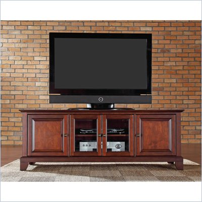 "Crosley Furniture Newport 60"" Low Profile TV Stand in Vintage Mahogany"