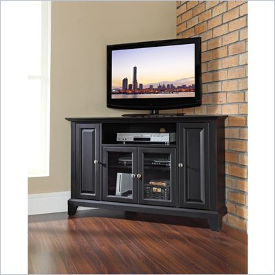 Crosley Furniture Newport 48&quot; Corner TV Stand in Black Finish