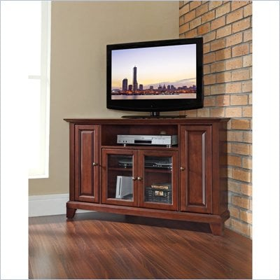 Crosley Furniture Newport 48&quot; Corner TV Stand in Vintage Mahogany