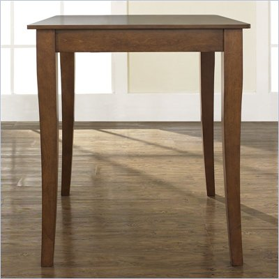 Crosley Furniture Cabriole Leg Pub/Dining Table in Classic Cherry Finish