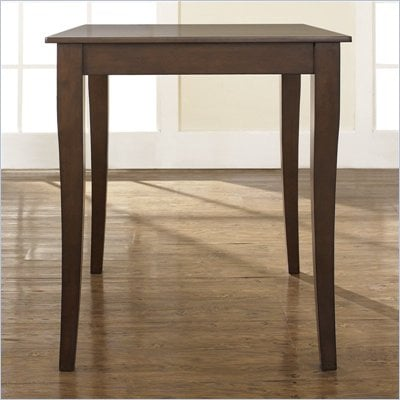 Crosley Furniture Cabriole Leg Pub Table in Vintage Mahogany Finish
