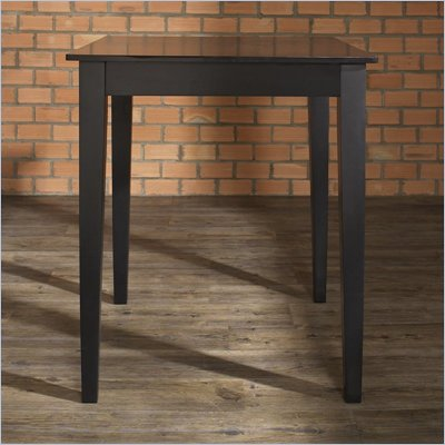 Crosley Furniture Tapered Leg Pub/Dining Table in Black Finish