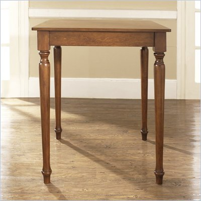 Crosley Furniture Turned Leg Pub/Dining Table in Classic Cherry Finish