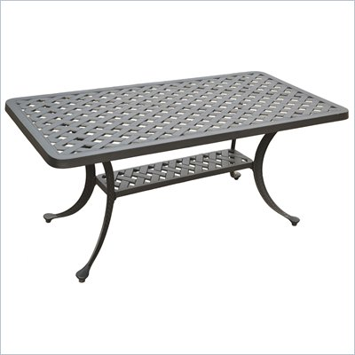 Crosley Furniture Sedona Rectangular Cocktail Table in Charcoal Black