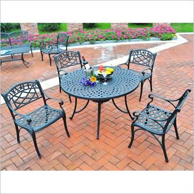 Crosley Furniture Sedona 42&quot; 5 Pc Dining Set w/ Arm Chairs in Black