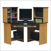 Ameriwood Wood Corner Computer Desk with Hutch in Natural 