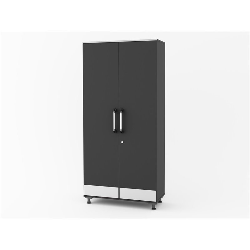 SystemBuild Boss Tall Storage Cabinet in Steel Gray