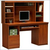 Ameriwood Industries Wood Computer Desk with Hutch in Cherry