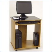 Ameriwood Industries Carina Mobile Wood Computer Desk in Elmira Oak