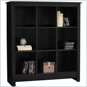 Ameriwood Industries 9 Cube Wood Storage Cubby Bookcase in Black Forest