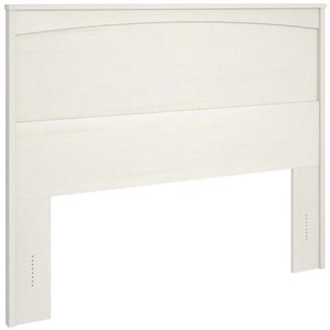 Ameriwood Home Crescent Point Full Panel Headboard in Ivory