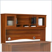 Ameriwood Hutch with Open and Concealed Storage in Expert Plum Finish